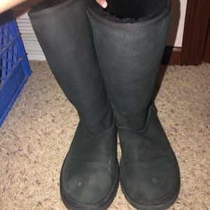 Black Ugg boots tall